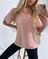 Стильная модная летняя удлиненная однотонная футболка женская, удобная повседневная одежда для женщин