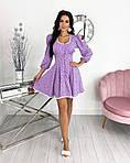 Женское платье, супер - софт, р-р 42-44; 46-48 (сиреневый), фото 3