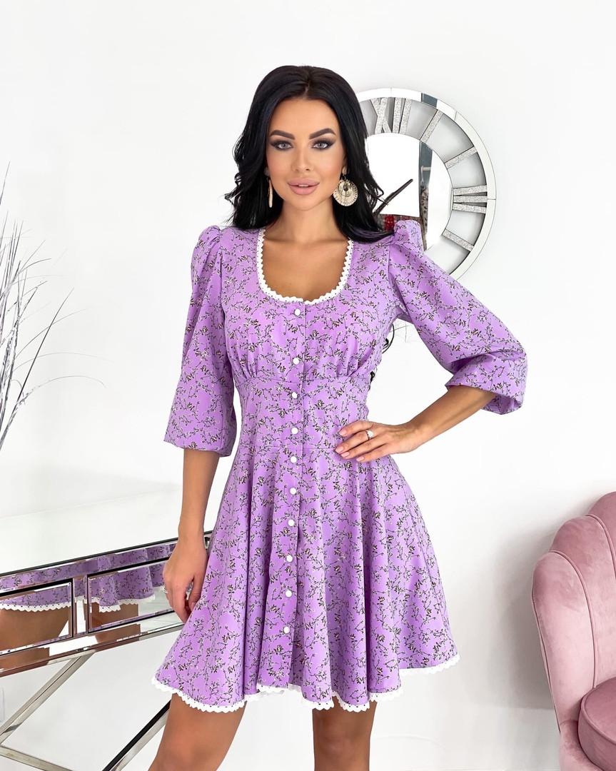 Женское платье, супер - софт, р-р 42-44; 46-48 (сиреневый)