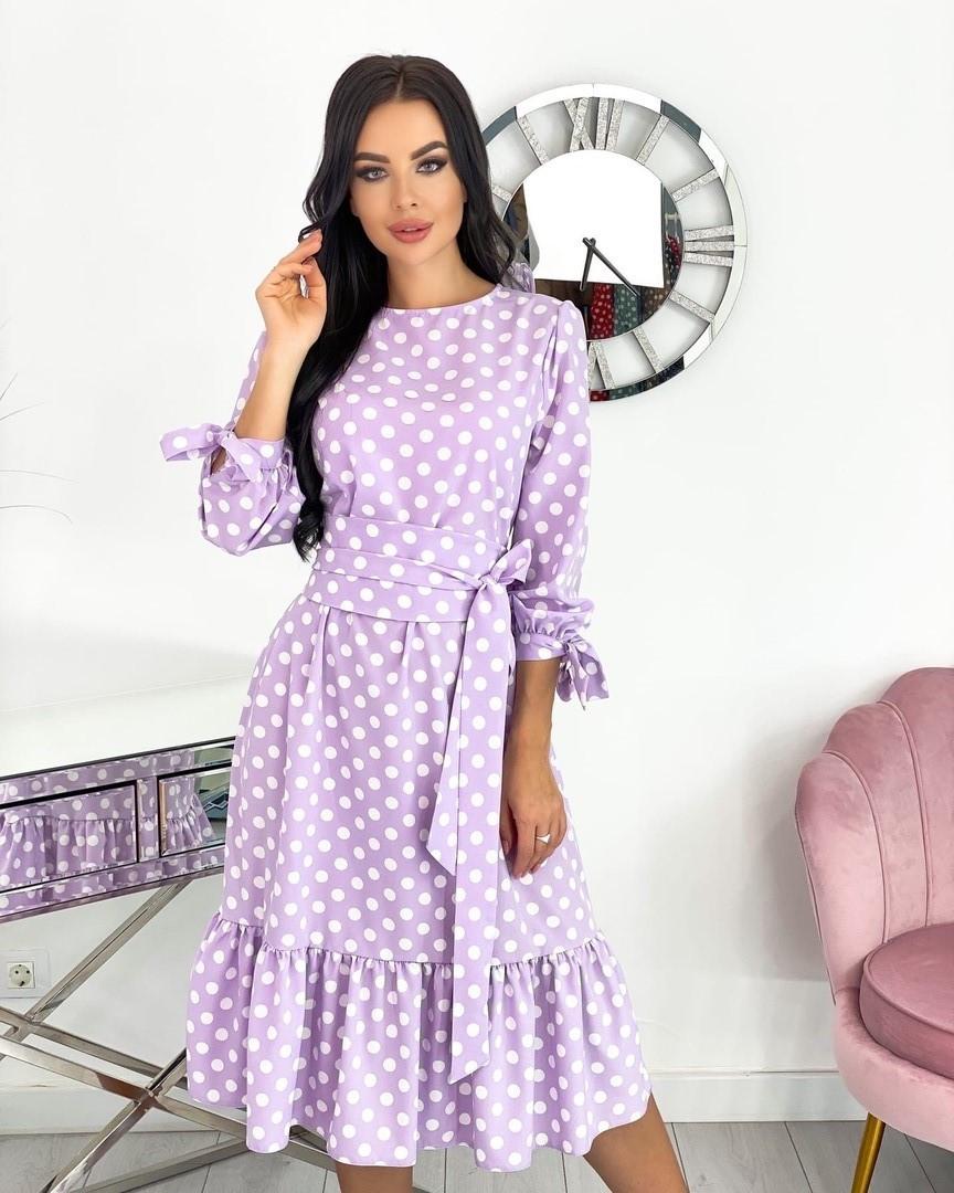 Женское платье, супер - софт, р-р 42-44; 46-48; 50-52 (лаванда)