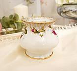 Винтажный фарфоровый ваза подсвечник, фарфор с розами, Chodziez, Польша, прованс, фото 2