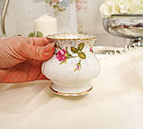 Винтажный фарфоровый ваза подсвечник, фарфор с розами, Chodziez, Польша, прованс, фото 5