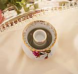 Винтажный фарфоровый ваза подсвечник, фарфор с розами, Chodziez, Польша, прованс, фото 7