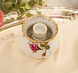 Винтажный фарфоровый ваза подсвечник, фарфор с розами, Chodziez, Польша, прованс, фото 6