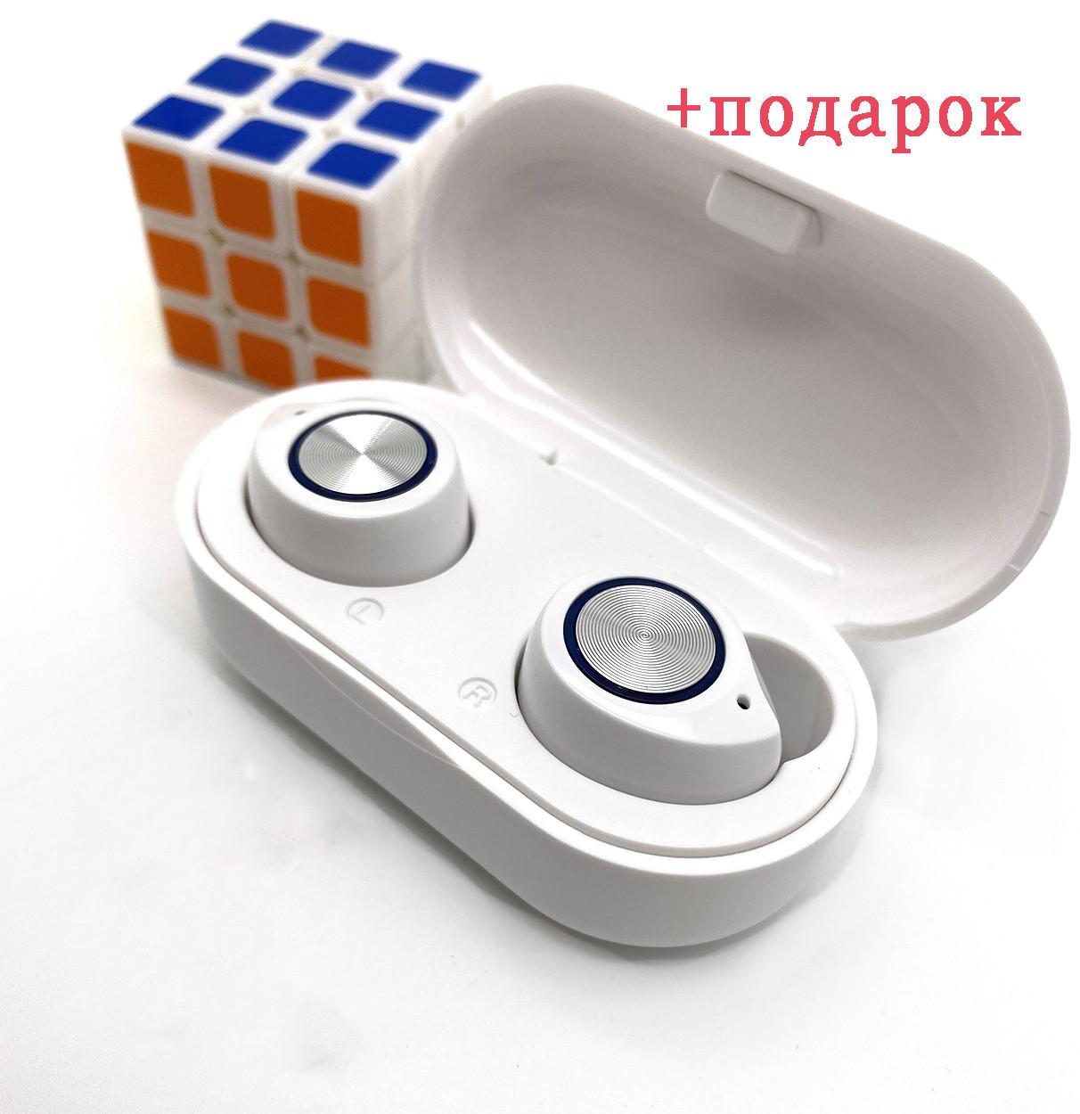 Бездротові навушники блютуз гарнітура Bluetooth навушники 5.0 Wi-pods TW60. Білі