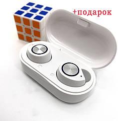 Wi-pods TW60 наушники беспроводные блютуз гарнитура Bluetooth 5.0  Белые. Гарантия 6 мес