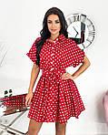 Женское платье, коттон - лён, р-р 42-44; 46-48 (красный), фото 3