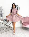 Женское платье, коттон - лён, р-р 42-44; 46-48 (пудровый), фото 2