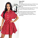 Женское платье, коттон - лён, р-р 42-44; 46-48 (пудровый), фото 4