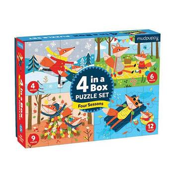 4 пазли в коробці Four Seasons(на 4, 6, 9, 12 елементів)