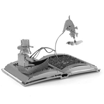 Металевий 3Д конструктор The Old Man & The Sea Book Sculpture