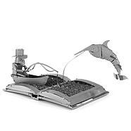 Металевий 3Д конструктор The Old Man & The Sea Book Sculpture, фото 2