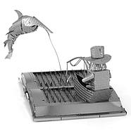 Металевий 3Д конструктор The Old Man & The Sea Book Sculpture, фото 3
