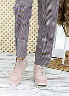 Замшеві мокасини пудра Serena, фото 1