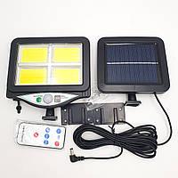 Фонарь уличный светильник аккумуляторный 2200mA с пультом на солнечной батарее LED Solar Light UKC BL
