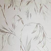Виниловые обои на флизелине AS creation Attractive ветки листья розовые белые черные на розовом, фото 1