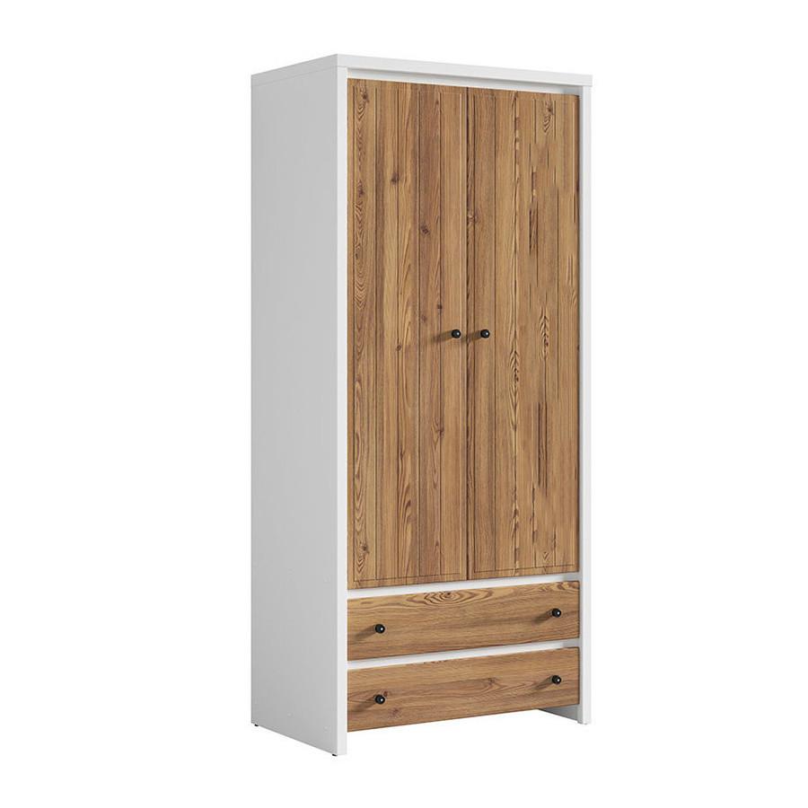 Шкаф двухдверный распашной SZF2D2S(A) в спальню из ДСП и МДФ Кристина