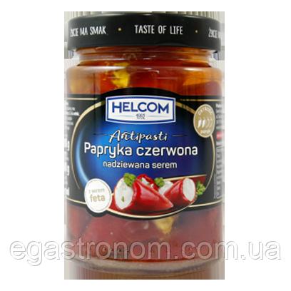 Перець Хелком червоний фарширований сиром фета в олії Helkom papryka czerwona 260/150g 8шт/ящ (Код :