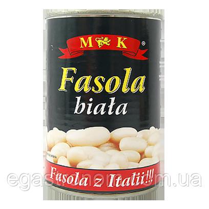 Квасоля МК біла консервована fasola biala MK 400g/240g 12шт/ящ (Код : 00-00005747)
