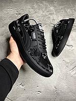 Чоловічі шкіряні кросівки Puma, чорний камуфляж, фото 1