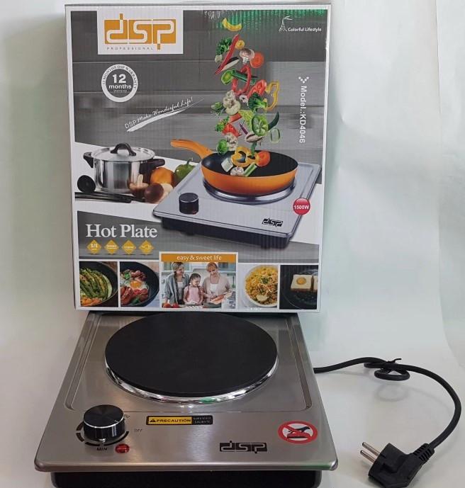 Електроплита настільна побутова без духовки DSP KD 4046, Електрична плитка одноконфорочная 1500Вт для кухні