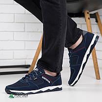 Кроссовки мужские сетка синие, фото 3