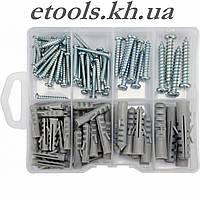 Шурупы с набором пластмассовых дюбелей YATO YT-36504