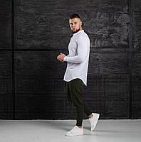 Мужской КОМПЛЕКТ Asos белая хлопковая рубашка и брюки зеленого цвета (зеленые) весна лето Турция
