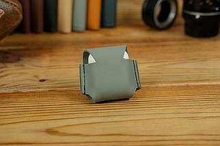 Чехол для AirPods 1, AirPods 2, матовая кожа Grand, цвет Серый, фото 2