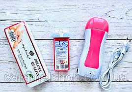 Набір для депіляції (воскоплав касетний, касета, смужки 100 шт)