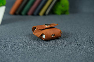 Чохол для AirPods 1, AirPods 2, матова Вінтажна шкіра колір Коньяк, фото 2