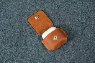 Чехол для AirPods 1, AirPods 2, матовая Винтажная кожа, цвет Коньяк, фото 3