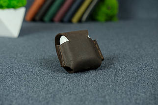 Чохол для AirPods 1, AirPods 2, матова Вінтажна шкіра, колір Шоколад, фото 2