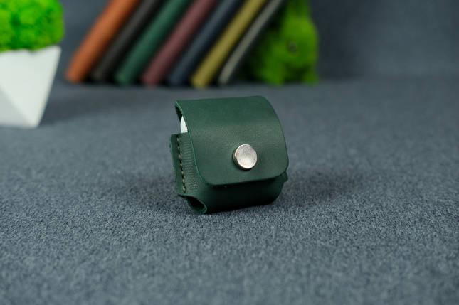 Чохол для AirPods 1, AirPods 2, матова Вінтажна шкіра, колір Зелений, фото 2