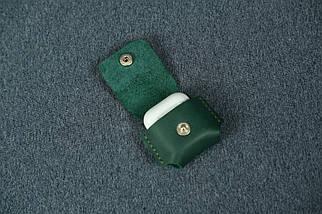 Чохол для AirPods 1, AirPods 2, матова Вінтажна шкіра, колір Зелений, фото 3