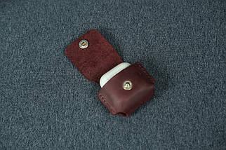 Чехол для AirPods 1, AirPods 2, матовая Винтажная кожа, цвет Бордо, фото 3