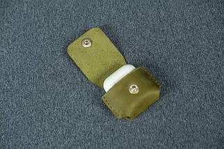 Чехол для AirPods 1, AirPods 2, матовая Винтажная кожа, цвет Оливковый, фото 3