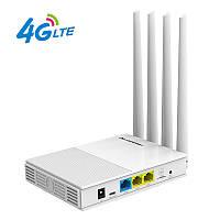 4G роутер WiFi с SIM картой COMFAST CF-4G, 300 Мбит/с, двойные антенны 2.4ГГц и 4G, для удалённого майнинга