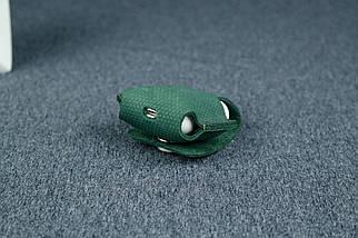 Чохол для AirPods 1, AirPods 2, матова Вінтажна шкіра, колір Зелений, тиснення №4, фото 2