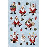 """Фетр с новогодним, зимним принтом рисунком """"Дед Мороз, Санта"""" ПНГ024"""