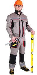 Спецодяг літній робочий костюм куртка з напівкомбінезоном «ЛТМ» саржа (Нідерланди)