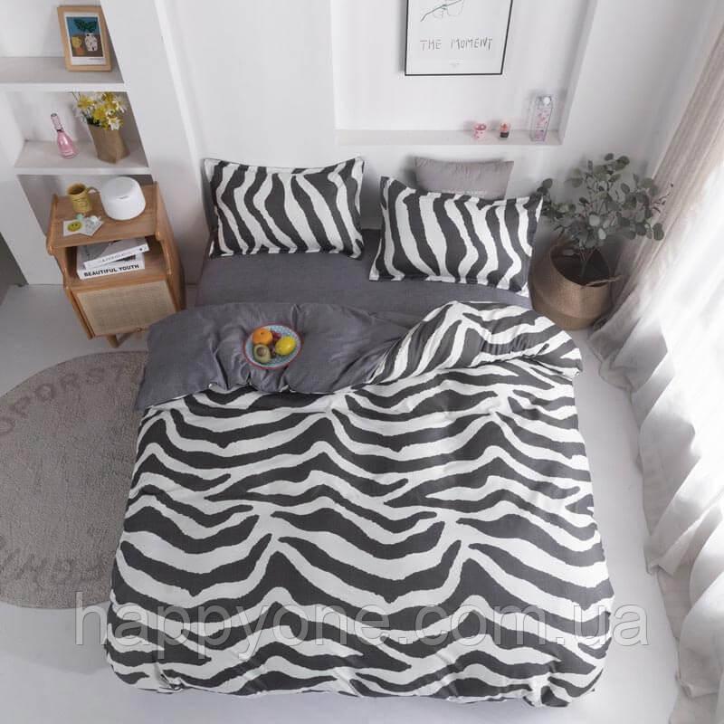 Комплект постільної білизни Zebra (двоспальний євро)