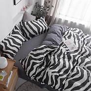 Комплект постільної білизни Zebra (двоспальний євро), фото 6