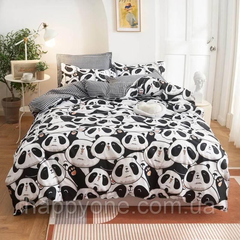 Комплект постельного белья Cute panda (двуспальный-евро)