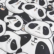 Комплект постельного белья Cute panda (двуспальный-евро), фото 2