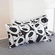 Комплект постельного белья Cute panda (двуспальный-евро), фото 3