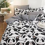 Комплект постельного белья Cute panda (двуспальный-евро), фото 6