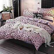 Комплект постельного белья Pink leopard (двуспальный-евро), фото 2