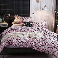 Комплект постельного белья Pink leopard (двуспальный-евро), фото 7