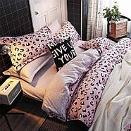 Комплект постельного белья Pink leopard (двуспальный-евро), фото 8